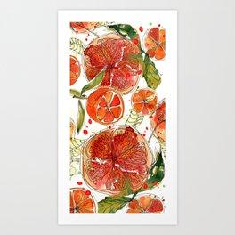 Zesty Clementines  Art Print