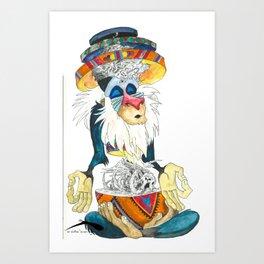 A Lion's King Art Print