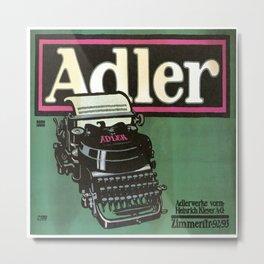 Vintage poster - Adler Typewriters Metal Print