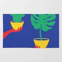 Plants Colour Block Rug