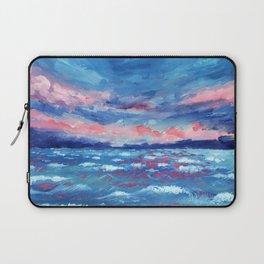Sea Storm Oil Canvas Laptop Sleeve