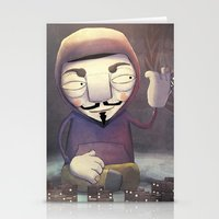 anonymous Stationery Cards featuring anonymous by Emilio Rizzo