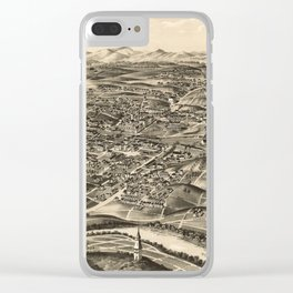 Vintage Pictorial Map of Roanoke Virginia (1891) Clear iPhone Case