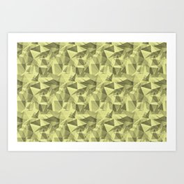 Abstract Geometrical Triangle Patterns 3 VA Lime Green - Lime Mousse - Bright Cactus Green - Celery Art Print