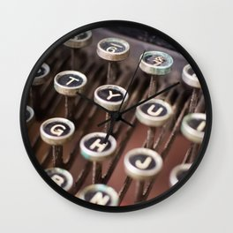 Antique typewriter keys Wall Clock