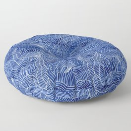 Coral Reef - Indigo Floor Pillow