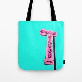 Cha-Cha's Tacos Retro Vintage Pink Sign Tote Bag