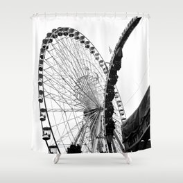 At the Fair: Round and Round Shower Curtain