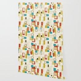 Mid Century Modern, Sputnik Pattern Wallpaper