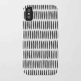 Classy Handpainted Stripes Pattern, Scandinavian Design iPhone Case