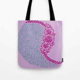 Henna Flower Swirl Tote Bag