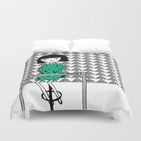 writing Duvet Covers featuring Drawing and Writing by Anna illustrates