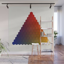 Lichtenberg-Mayer Colour Triangle variation, Remake using Mayers original idea of 12+1 chambers Wall Mural