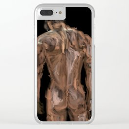 Sexy Back Surfer 1 Clear iPhone Case