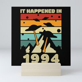 It Happened In 1994 UFO Alien Mini Art Print