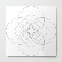 Vesica Piscis Construction 1 Metal Print