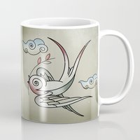 sparrow Mugs featuring Sparrow by Vin Zzep