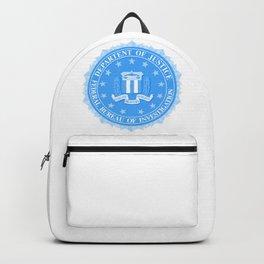 FBI Seal In Blue Backpack