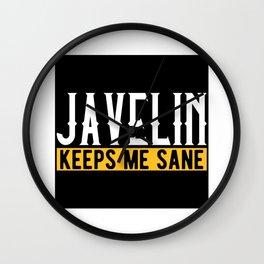 Javelin Throw Lover Gift Idea Design Motif Wall Clock