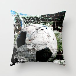 Modern soccer ball art vs 8 Throw Pillow