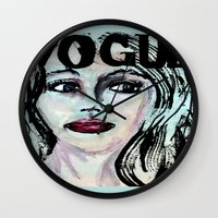 vogue Wall Clocks featuring Vogue by Kayla Bortolotto