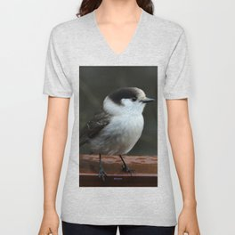Gray Jay Unisex V-Neck
