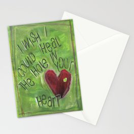 Hole in Your Heart by Seattle Artist Mary Klump Stationery Cards