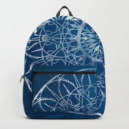 Fire Blossom - Blue Backpack