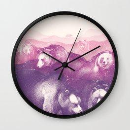 Wild Mountains Wall Clock