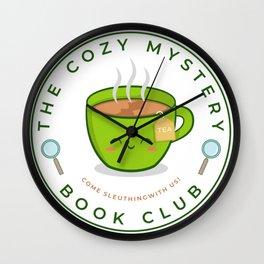 The Cozy Mystery Book Club Wall Clock