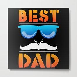 BEST DAD Metal Print