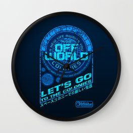 Off World Wall Clock