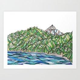 trinity lake Art Print