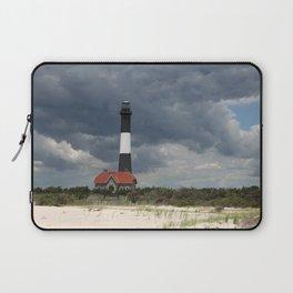Dramatic Sky Over Fire Island Light Laptop Sleeve