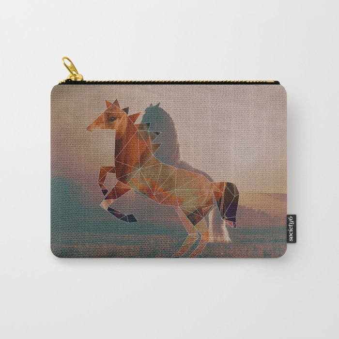 Horse with Horse Carry-All Pouch