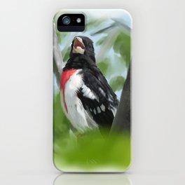 Grosbeak iPhone Case