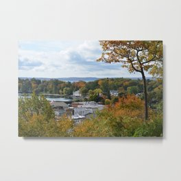 Harbor Springs Bay- View from Bluff-Fall-(1) Metal Print