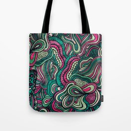 Abstract Colorful Doodle Art  Tote Bag
