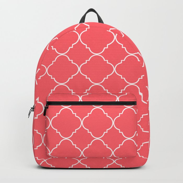 Coral Red Moroccan Backpack