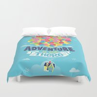 adventure is out there Duvet Covers featuring Adventure is out there by Risa Rodil