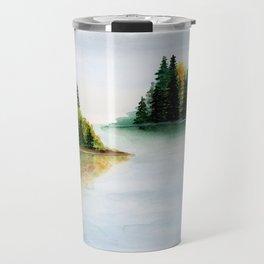 Fall Lake Landscape Travel Mug