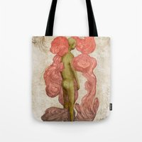 meat Tote Bags featuring Dead meat by Nico Abisal
