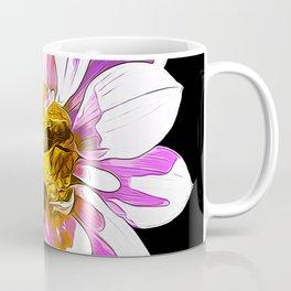 bees on flower vector art Coffee Mug