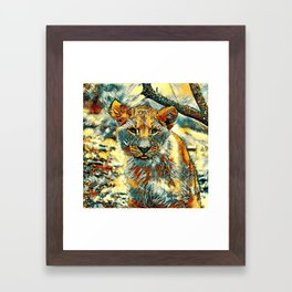 AnimalArt_Lion_20171204_by_JAMColorsSpecial Framed Art Print