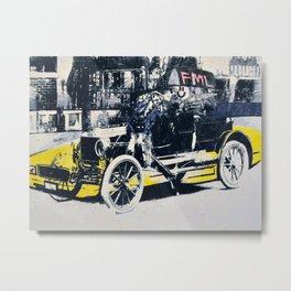 FML Taxi Metal Print