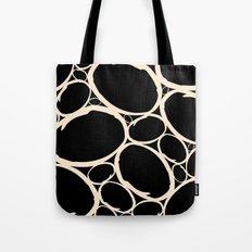 Circles  |  Cream & Black Tote Bag
