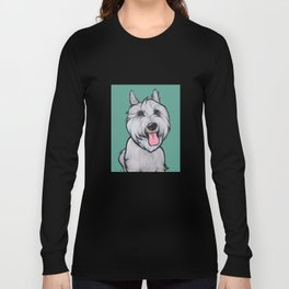 Levi the Miniature Schnauzer Long Sleeve T-shirt