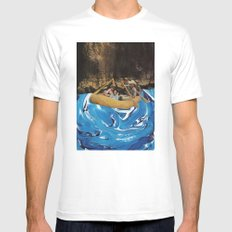 gently down the stream SMALL White Mens Fitted Tee