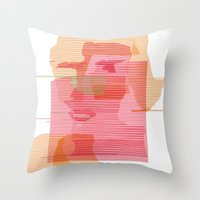 sandra dieckmann Throw Pillows featuring Sandra Dee by ramalamb