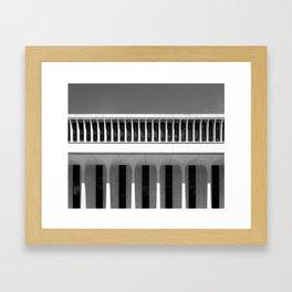 Architectural Notan - Robertson Hall, Princeton, NJ Framed Art Print